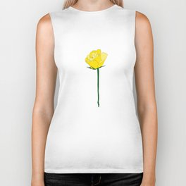 Yellow Rose Biker Tank