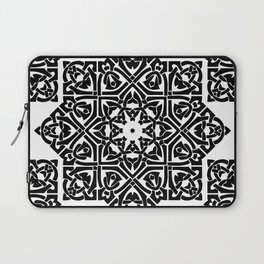 Celtic Knot Ornament Pattern Black and White Laptop Sleeve
