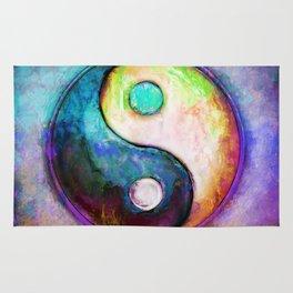 Yin Yang - Colorful Painting V Rug