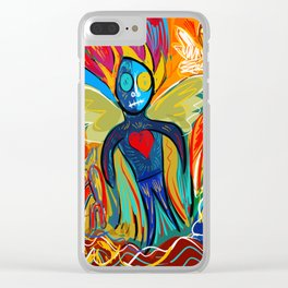 Young Soul and Pure Heart Street Art Graffiti Clear iPhone Case