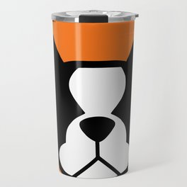 Boston Terrier - bold and moden in orange Travel Mug