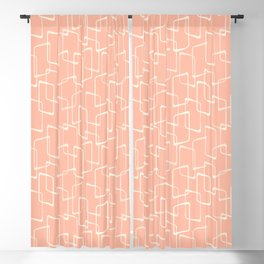 Mid Century Blush Geometric Pattern Blackout Curtain