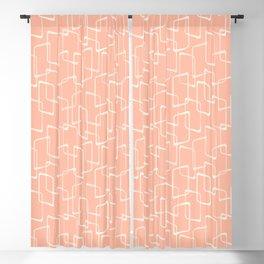 Mid Century Blush Geometric Pattern Blackout Curtain