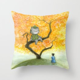 Chinese Alice in Wonderland Throw Pillow