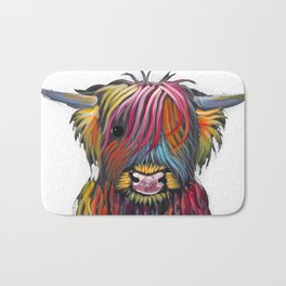 Scottish Highland Cow ' BRaVEHEaRT 2 ' by Shirley MacArthur Bath Mat
