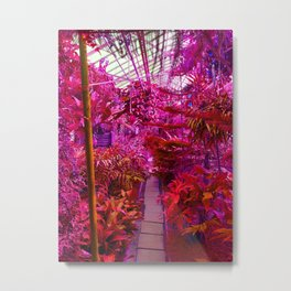 Tropical Green House - Pink Palette  Metal Print