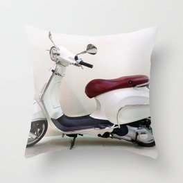 Vespa Motorbike Throw Pillow