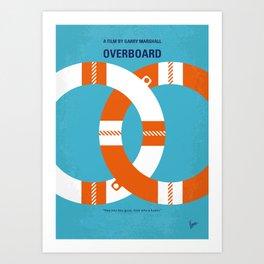 No815 My Overboard minimal movie poster Art Print