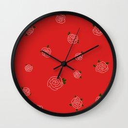 Roses & Love Wall Clock
