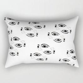 Ancient masks by poppyshome Rectangular Pillow