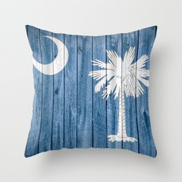 South Carolina State Flag Barn Wall Print Throw Pillow