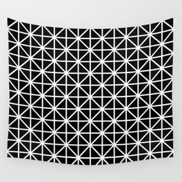 Grid Complex Dark 2 Wall Tapestry