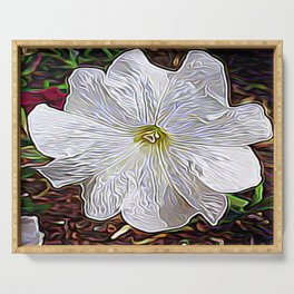 Enchanted Flower Serving Tray