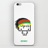 marley iPhone & iPod Skins featuring Marley by the curious brain