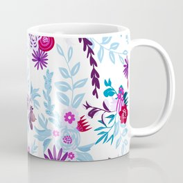 Abstract pastel blue pink country flowers pattern Coffee Mug