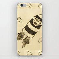 rocket iPhone & iPod Skins featuring rocket by Mariana Beldi