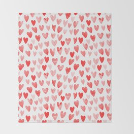 Watercolor heart pattern perfect gift to say i love you on valentines day Throw Blanket