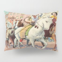 Vintage Western Town Rodeo Parade Pillow Sham