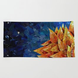 Star Bloom Collage Beach Towel