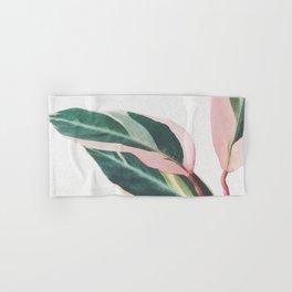 Pink Leaves II Hand & Bath Towel