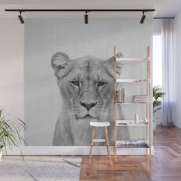 Lioness - Black & White Wall Mural