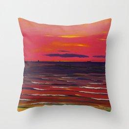 Léon Spilliaert - Marine, Le Soir Throw Pillow