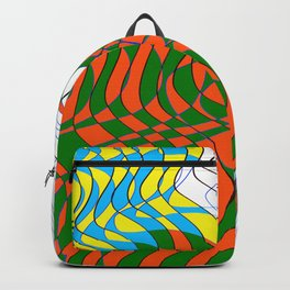 Waves Lines Black and Blue Lines - Colored Backpack
