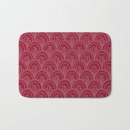 Raspberry Fancy Scale Pattern Bath Mat
