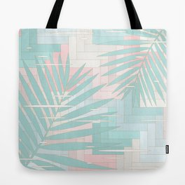 Summer Mood with Chevron and Palms Tote Bag