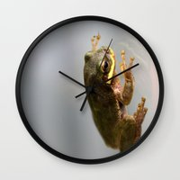 kermit Wall Clocks featuring Kermit by Organic Photography