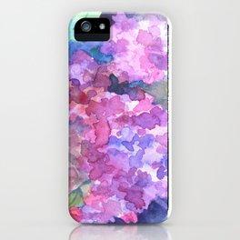 Bold Color Lilacs iPhone Case
