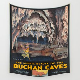 Vintage poster - Buchnan Caves Wall Tapestry