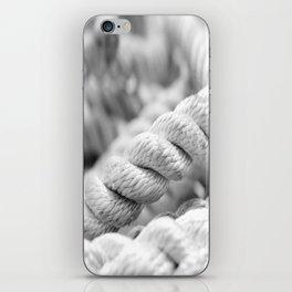 Ropes black and white macro iPhone Skin