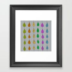 Candy Raindrops Framed Art Print