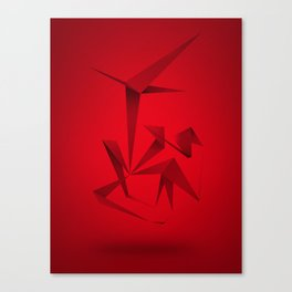 RED ANGLE Canvas Print