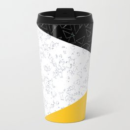 Black yellow white flap Travel Mug