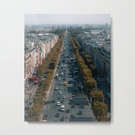 Champ Elysees Paris Metal Print