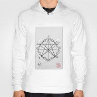 pentagram Hoodies featuring Elemental Pentagram by sparkplug95