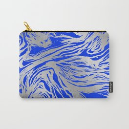 Marbled Blue Carry-All Pouch