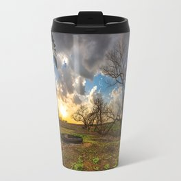 Twilight - Charred Landscape Comes Back to Life at Sunset in Kansas Travel Mug