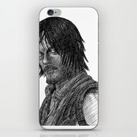 daryl dixon iPhone & iPod Skins featuring Daryl Dixon by Jack Kershaw