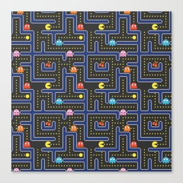 pacman maze Canvas Print
