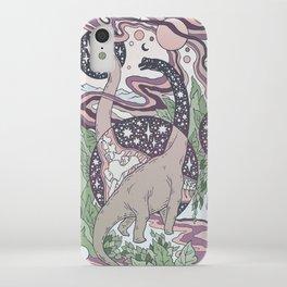 Jurassic Portal | Purple Haze Palette | Dinosaur Science Fiction Art iPhone Case