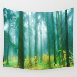 Fairy tale (Green) Wall Tapestry