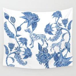 BLUE BATIK WEIMS Wall Tapestry