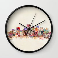 aelwen Wall Clocks featuring richmond virginia  by bri.buckley