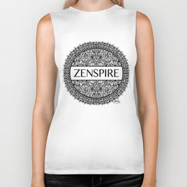 Zentangle - Zenspire  Biker Tank