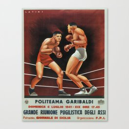 Vintage poster - Boxing Canvas Print