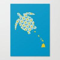hawaii Canvas Prints featuring Hawaii by Erik Sandi Satresa