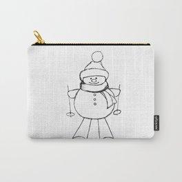 Skier Snowman AZ02 Carry-All Pouch